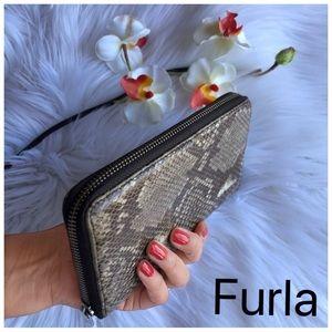 JUST IN✔️FURLA Reptile Snake skin leather  wallet